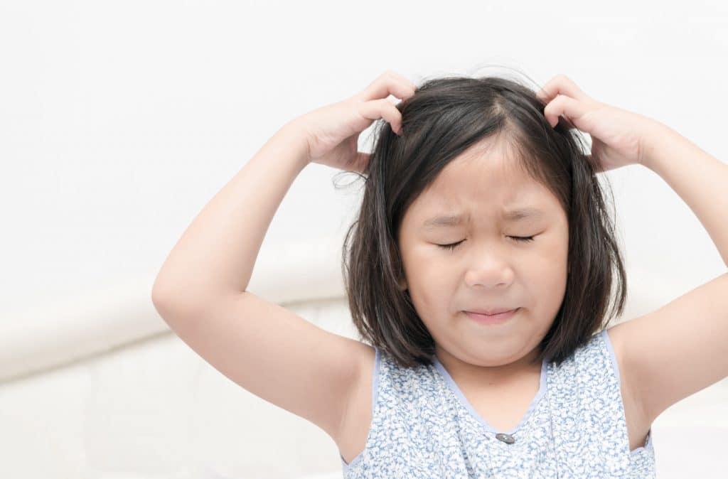 Cheveux qui nécessitent un shampoing anti-poux