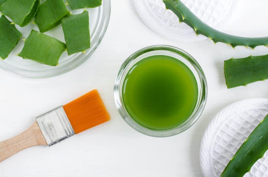 Aloe vera comme base de shampoing hydratant