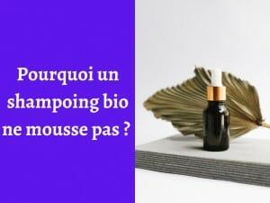 Quelle est la raison pour laquelle un shampoing bio ne mousse pas ?